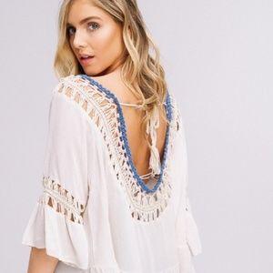KismetsKloset Tops - BOHO Jasmine Crocheted Top